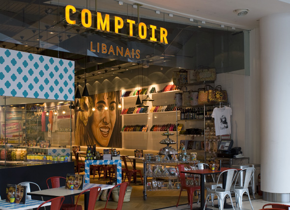 comptoir libanais branding and restaurant design. Black Bedroom Furniture Sets. Home Design Ideas
